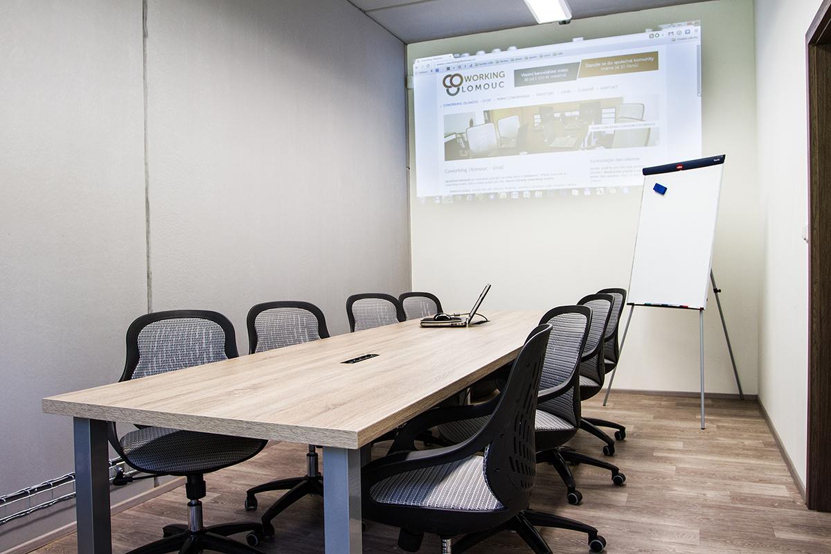Větší zasedací místnost - Olomouc Coworking